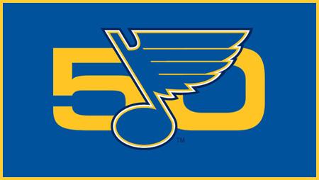 St. Louis Blues 50 Years Logo